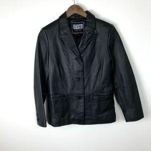 Clio Petites Leather Jacket Black Small